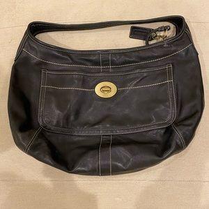 Coach Ergo XL Hobo Shoulder Black Leather Bag